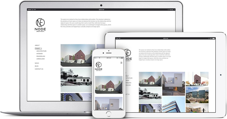 노드아키텍스 홈페이지개편